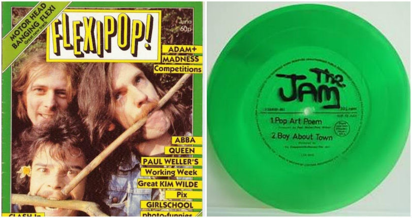 Motörhead, The Cure, The Jam (+ a bizarre Adam Ant comic) from the pages of cool 80s mag Flexipop!