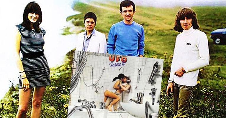 When half of Throbbing Gristle ended up on a UFO LP cover, making out pantsless