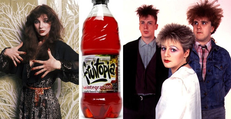 Fruitopia commercials scored by Kate Bush and the Cocteau Twins