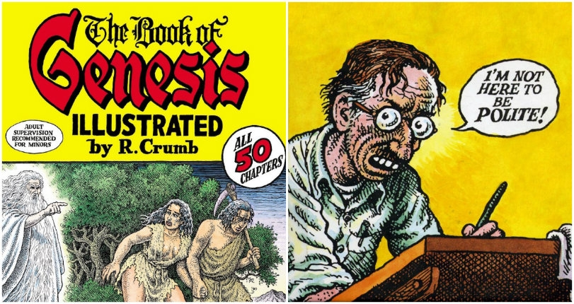 R. Crumb illustrates incest, murder & other sordid situations from the 'Book of Genesis' (NSFW)