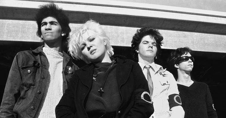 The Germs give out the telephone number of a drug dealer on KROQ radio, 1979