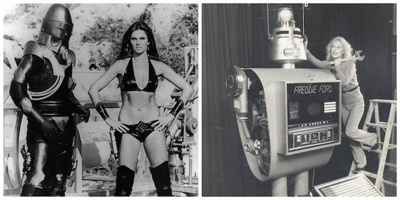 Retro chicks and robots (sometimes) behaving badly