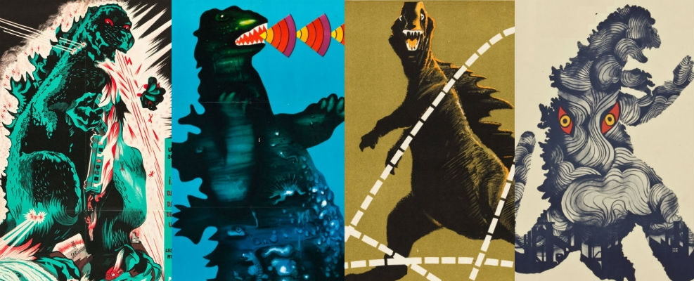 Vintage Godzilla posters from around the world are indescribably awesome!
