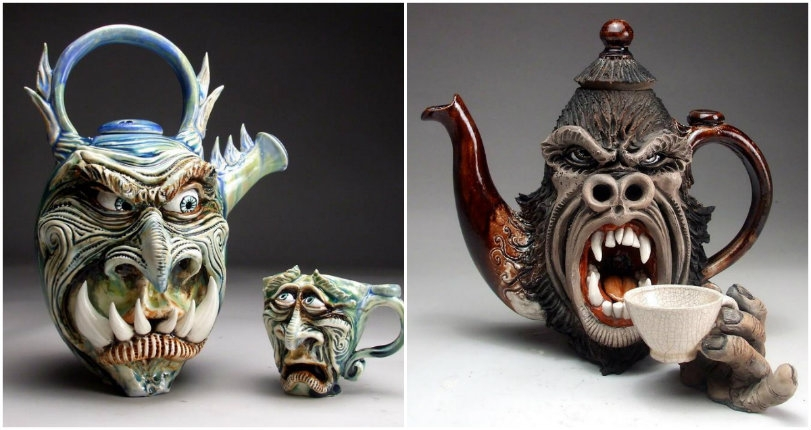 Animals armed with guns & snake oil salesmen: The confrontational ceramics of Mitchell Grafton