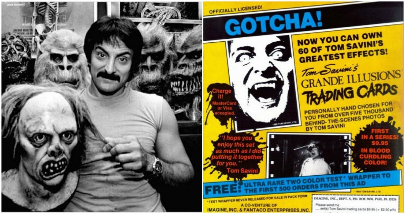 Gloriously gross trading cards from the Godfather of Gore, Tom Savini