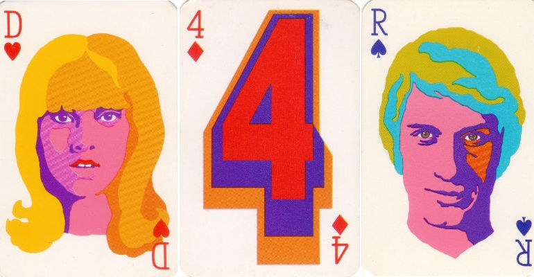 Groove-tastic French playing cards from the 1960s