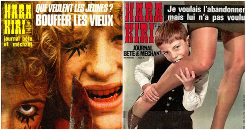 Hara Kiri: The magazine so 'stupid and evil' it was banned by the French government