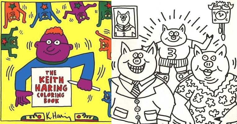 Keith Haring's surprisingly G-rated, very rare, very expensive coloring book