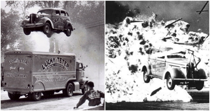 'Hell Drivers': Wild vintage images of fearless car stuntmen