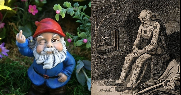 Three centuries ago, that garden gnome in your yard would have been an actual human being