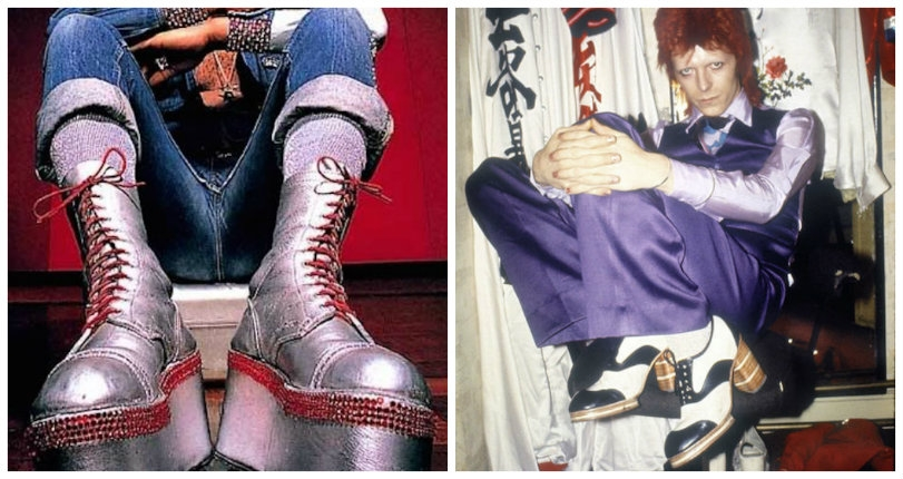 Sky-high boots and platform shoes worn by David Bowie, Marvin Gaye, AC/DC, Keith Moon & more
