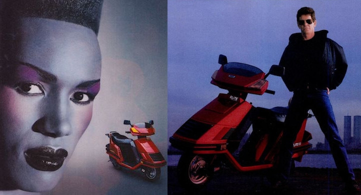 Honda scooter ads featuring DEVO, Lou Reed, Miles Davis, Grace Jones, and Adam Ant