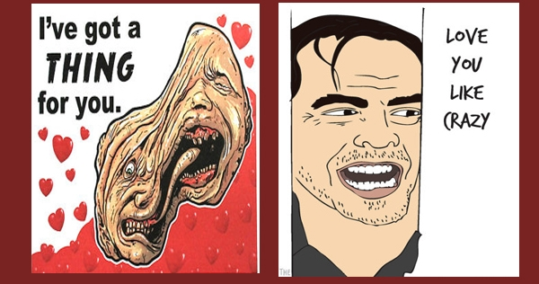 Creepy horror Valentine cards for your best ghoul