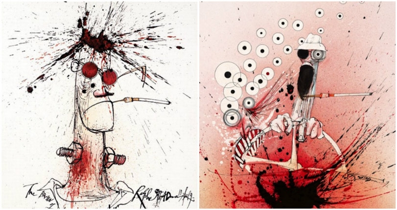King of Gonzo: Portraits of Hunter S. Thompson by Ralph Steadman