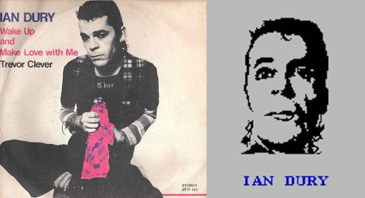 Ian Dury portrays a sperm in a video game, 1984