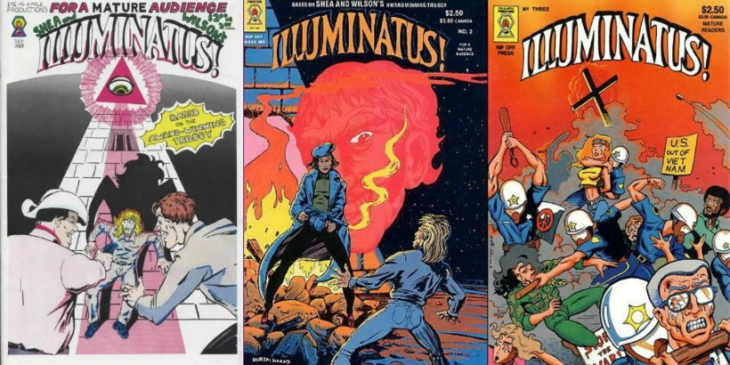 Read the comic book of Robert Anton Wilson's 'Illuminatus!' online