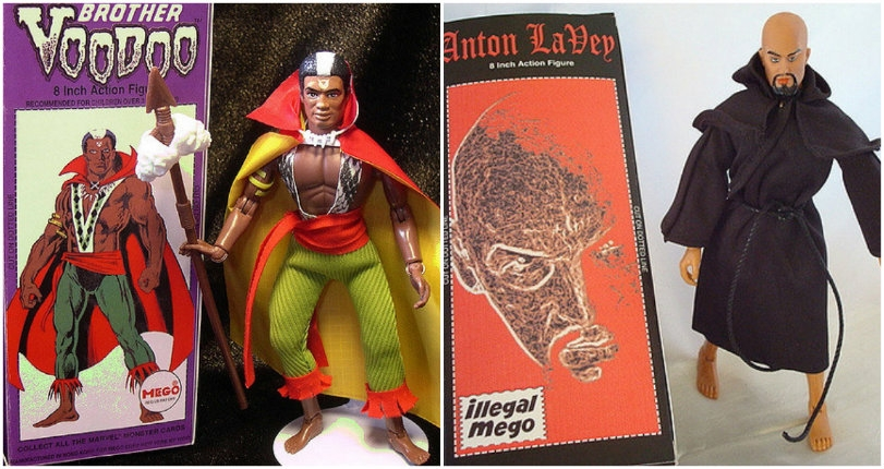 Anton LaVey, Son of Satan & Vampirella make for fantastically weird 'Illegal Mego' action figures