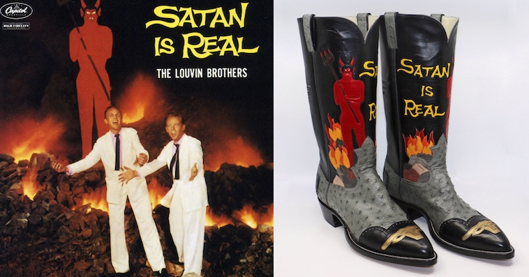 Fantastic Louvin Brothers 'Satan Is Real' cowboy boots