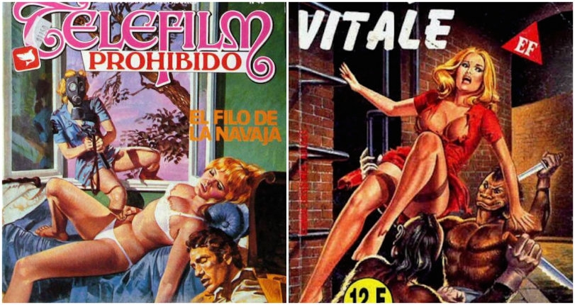Bizarre, sexually depraved covers of vintage Italian adult comics from the 70s and 80s
