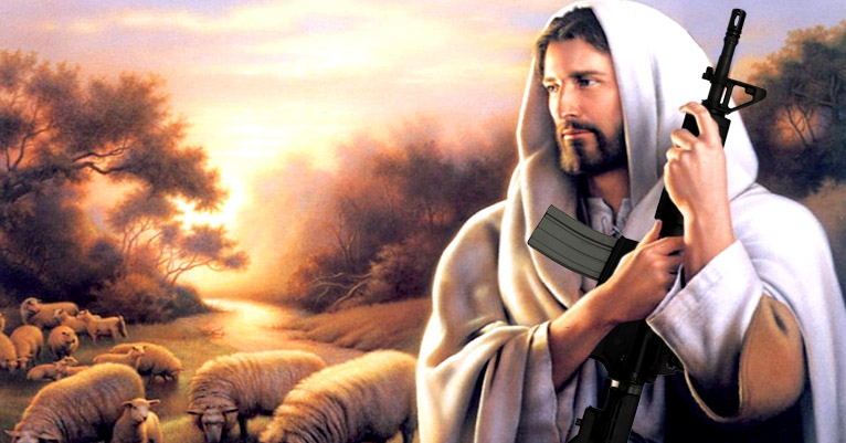 Who would Jesus pump fulla hot lead? A 'Christian' assault rifle is now available, because Florida