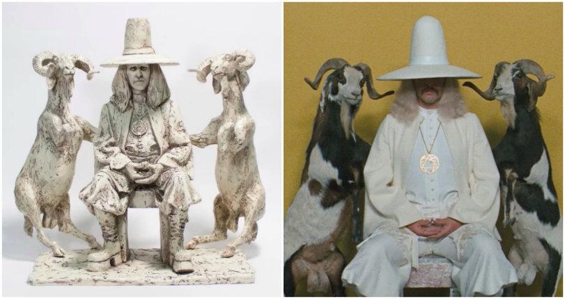 Killer statues of Alejandro Jodorowsky as El Topo and The Alchemist