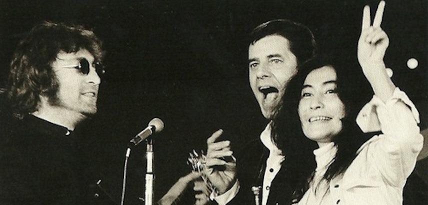 John, Yoko and Jerry Lewis play reggae on the MDA Telethon