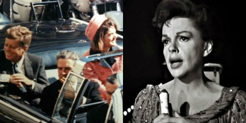 Stop what you're doing right now and watch Judy Garland sing her heart out for the late JFK