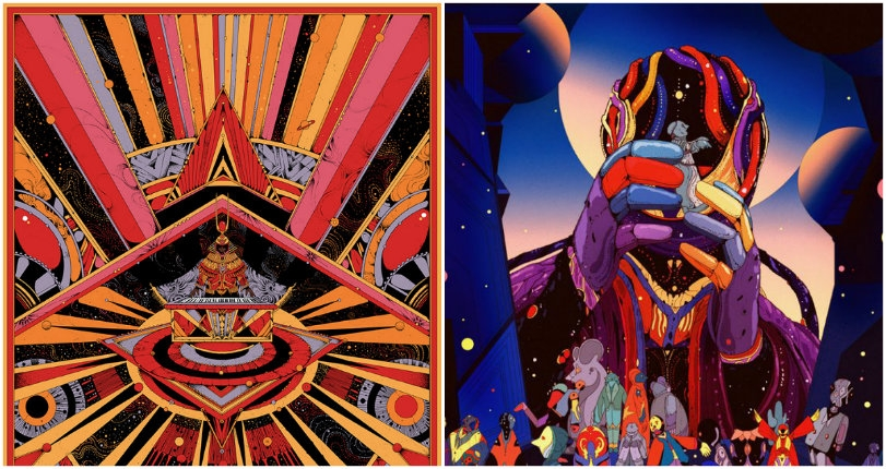 The psychedelic retro-futurism of Swedish artist Kilian Eng