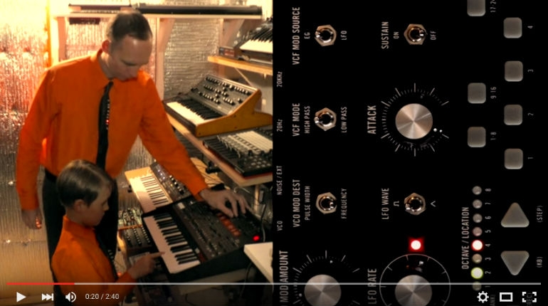 Father and son cover Kraftwerk's 'The Robots'
