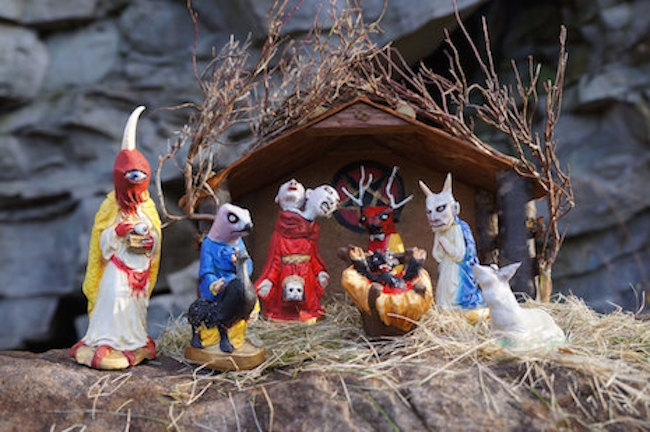 The Krampus has been BORN: Behold this one-of-a-kind Krampus nativity set!
