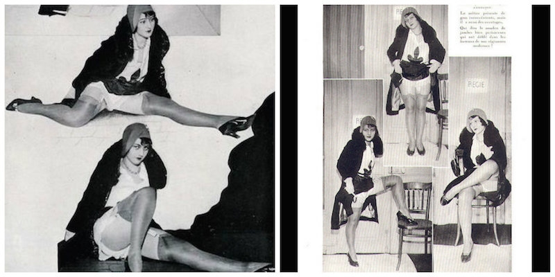 'Legs & Attitudes': Vintage French leg fetish magazine from 1930