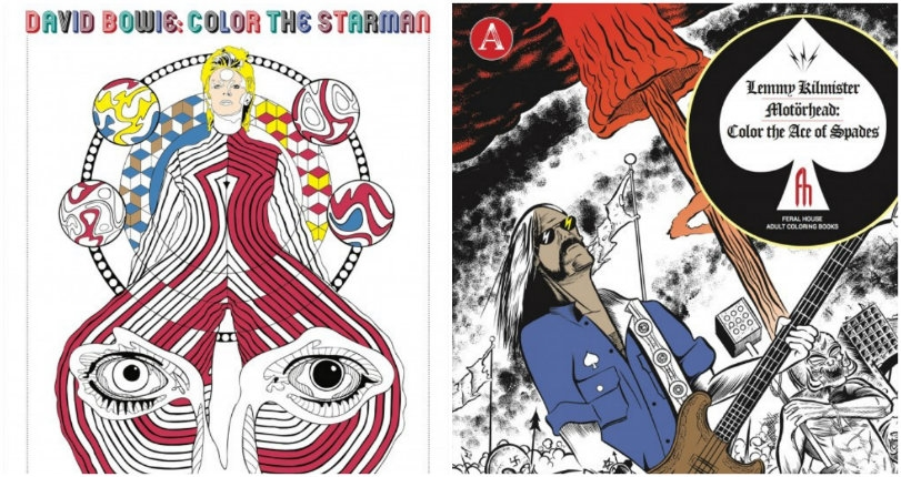 Color me impressed: Lemmy and David Bowie-themed coloring books are here!
