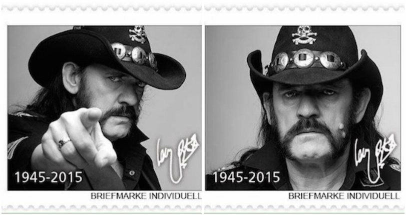 Germany issues commemorative stamp collection in honor of Lemmy Kilmister