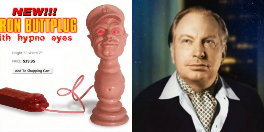L. Ron Hubbard butt plug with 'hypno eyes' (and video!)