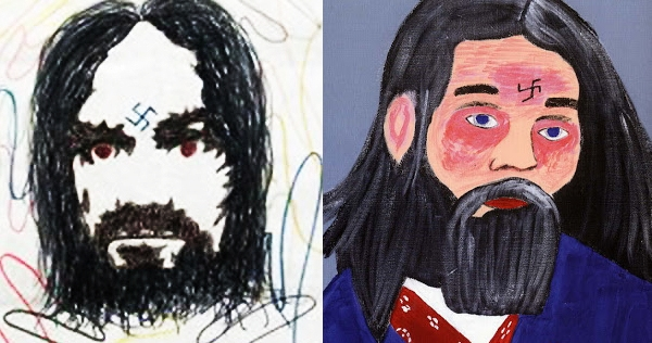 Infamous serial killers do portraits of Charles Manson