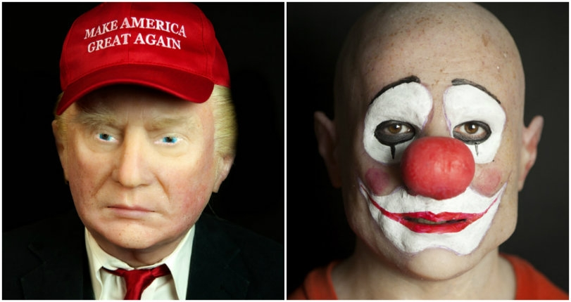 Transfixing masks that transform you into an old man, clown, ghoul, or Donald Trump