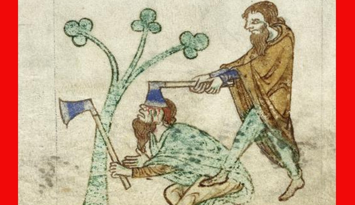 Medieval Death Bot shows the various terrible and horrible ways people died in the Middle Ages