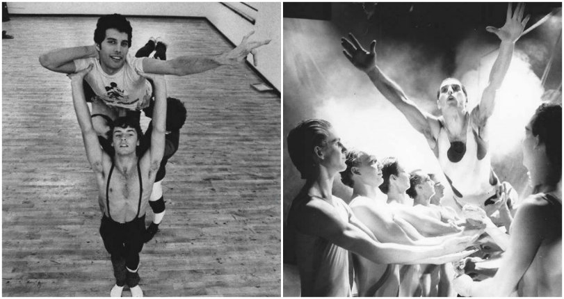 Freddie Mercury breaks free onstage with The Royal Ballet in 1979