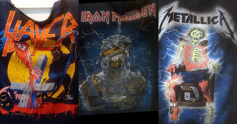 Slayer, Maiden, Metallica and more in an amazing trove of '80s heavy metal shirts