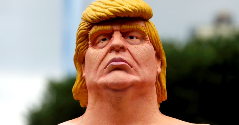 Those notorious naked Trump statues are starting to be released to the wild