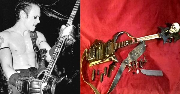 Jerry Only's original (destroyed) Misfits bass can be yours!