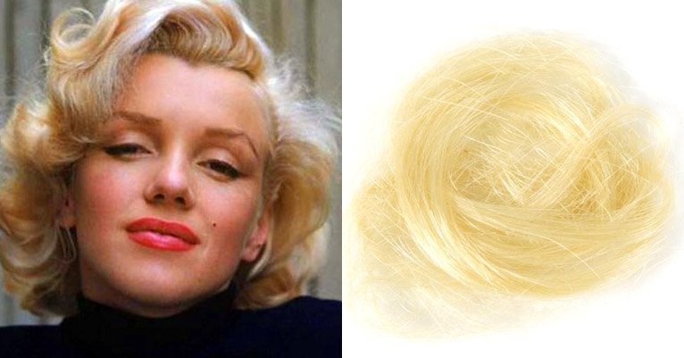 You can buy two locks of Marilyn Monroe's hair. Seriously.