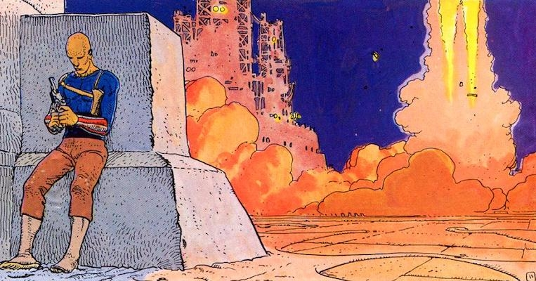 'The Long Tomorrow' by comix master Moebius, key source for 'Blade Runner'
