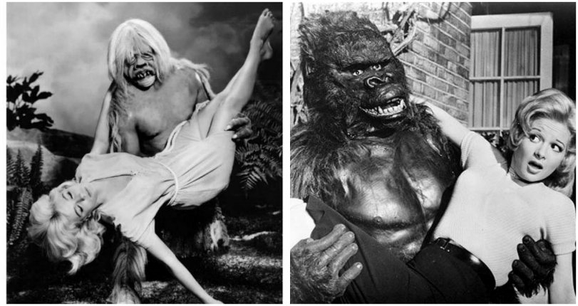 Famous movie monsters & other ghouls carrying around hot chicks