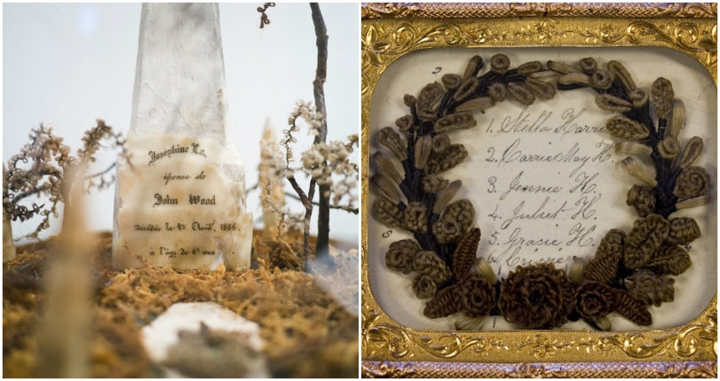 The art of mourning: Vintage wreaths & other memorial keepsakes made with the hair of the dead