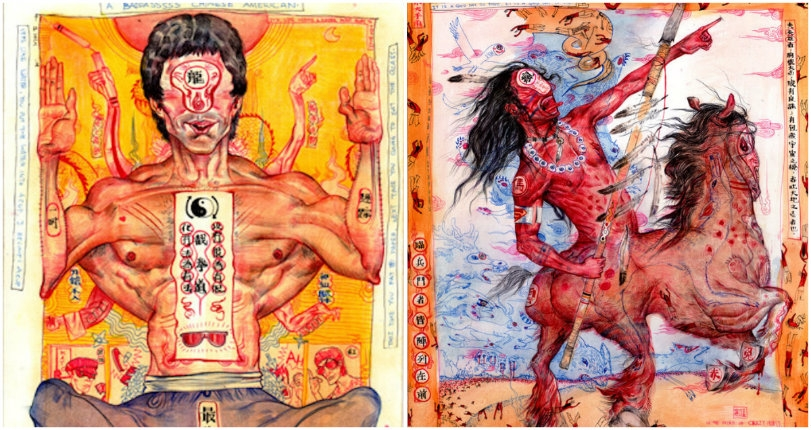 The grotesquely chaotic paintings of Mu Pan