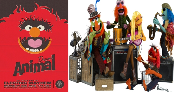 Electric Mayhem: Muppet band retro concert posters