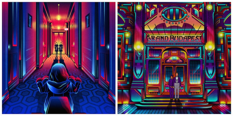 'Neon' movie posters of cult films by Quentin Tarantino, Dario Argento, Stanley Kubrick and more
