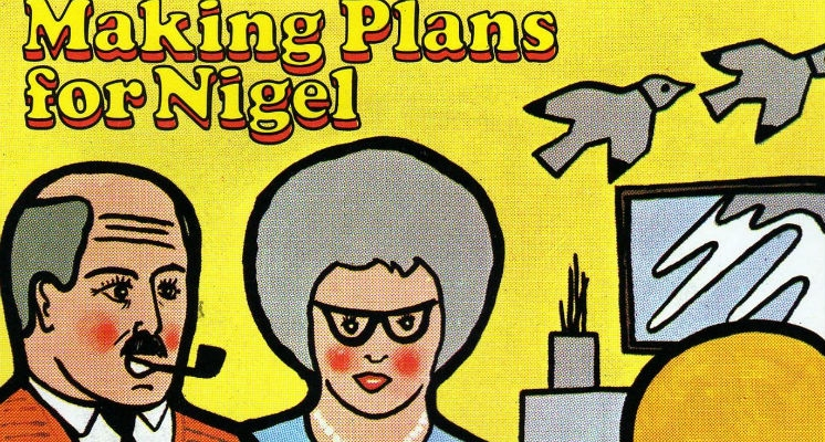 Brilliant fold-out 'chutes and ladders' cover for XTC's 'Making Plans for Nigel' single