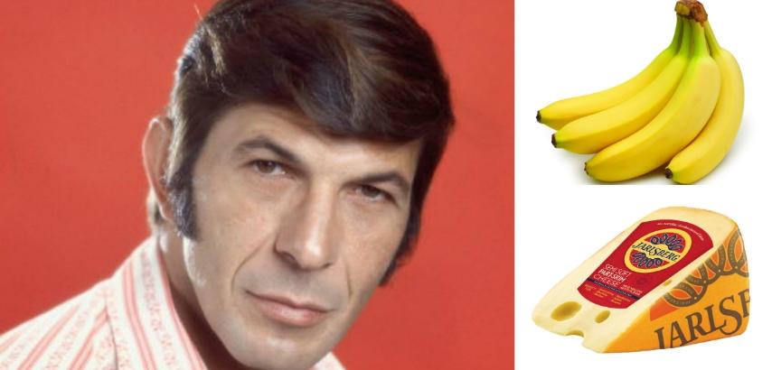 Leonard Nimoy's recipe for banana cheese potatoes